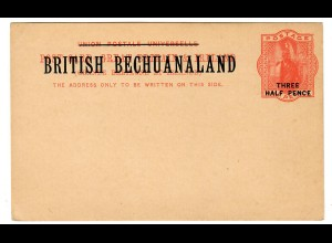 Post card unused British Bechuanaland