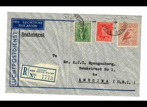 Luftpost Einschreiben Sydney NSW nach Amboina about 1930
