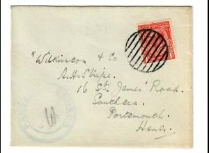 Brief Militärpost nach Portsmouth