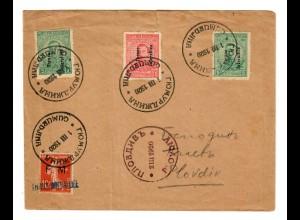 Bulgarien 1920 Gümubdjitia nach Plovdiv