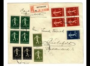 Einschreiben Rotterdam nach Bielefeld 1939