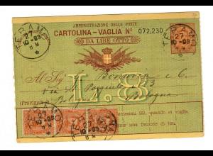 Geldanweisung Teramo nach Bologna 1893