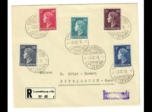 Einschreiben Luxembourg-ville 1948 nach Ettelbruck