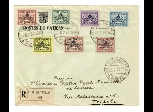 Einschreiben Citta del Vaticano nach Tripoli 1939