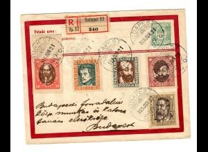 Einschreiben Budapest 1919