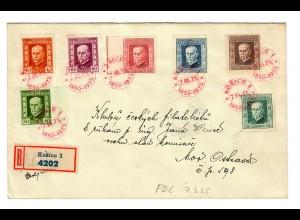 Einschreiben Kosice, FDC 1925