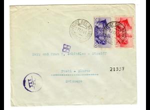 Brief S. Felice del Benaco nach Rueti/Glarns, Schweiz, 1941, Zensur
