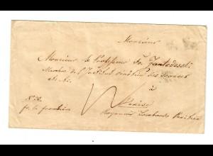 Rus: 1845: Brief nach Venedig: Stempel: Frei bis zur Grenze