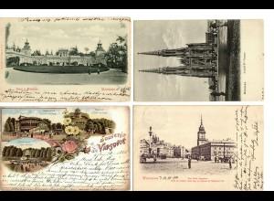 PL: 8x Ansichtskarte 1898-1913, Warschau