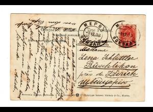 Rus: 1903: Ansichtskarte Tachkent nach Büschlikon/Zürich, Bahnhof Turkmenistan