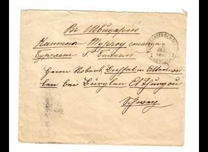 Rus: 1854: Bahnpost 138 /Oktogon Pochatoviy/Vagon in die Schweiz