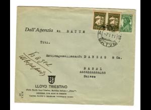 Rus: 1921: Lloyd Triestino nach Basel