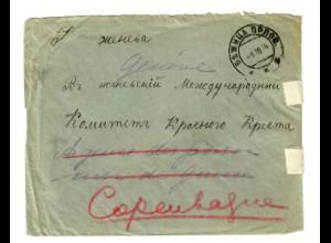 Rus: 1914: Kgf/POW nach Genf/Copenhagen