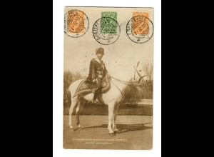 Rus: 1912: Foto Ansichtskarte Zar Nikolaus nach Bern