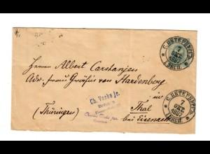 Rus: 1887 St. Petersburg nach Thal/Eisenach - Bremen