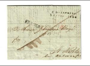 Rus: 1834 St. Petersburg - Börsenbericht nach Belgien St. Nicola/Antwerpen