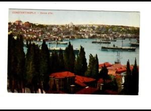 Rus: Levante 1913: Ansichtskarte Konstantinopel mit Romanov in die Schweiz
