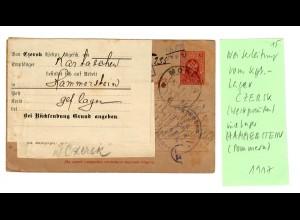 Rus: Kgf/POW 1917: Lager Czersk ins Lager Hammerstein/Pommern