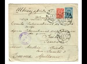 Rus: 1918 ab Wetchca nach Genf/Schweiz