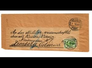 Rus: 1892: Streifband nach Lemberg/Österreich