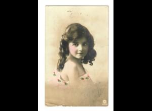 Rus: 1916: Feldpost Ansichtskarte mit Mädchen