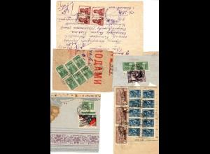 Rus: 1939-47: 5x Quittungen