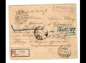 Rus: 1923 Einschreiben Uralsk nach Berlin