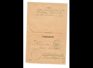 Feldpost Nr. 11775; Turkmenisches Infanterie Bat. 790, Lublin nach München 1943