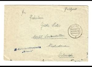Feldpost Krakau 7.12.39, SS-Totenkopfstandarte Krakau nach Markt Seitenstetten