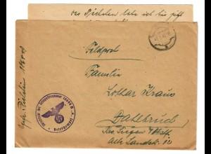 4 Feldpostbriefe von Legionärsausbilder, alle mit Inhalt, 1942/43