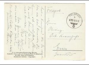 frühe Feldpostkarte 19.9.39, FPNr. 33632 nach Essen
