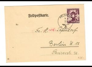frühe Feldpostkarte 21.9.39 mit Info FPNr. 06445 und Postsammelstelle