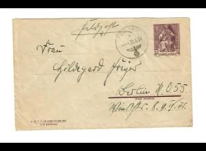 Früher Feldpostbrief FPNr. 24461, 23.9.39 auf poln. Beute-GZU nach Berlin