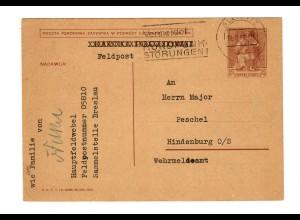 Feldpost auf poln. Beute-Ganzsache vom 13.9.39 von Gleiwitz, FPNr. 05810