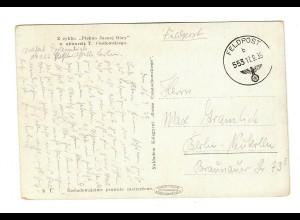 frühe Feldpost, Ansichtskarte Tschenstochau, 17.9.39 mit FPNr. 19126
