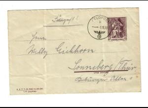 frühe Feldpost, 01.10.39 mit FPNr. 01081 auf polnischer Beute-Ganzsache