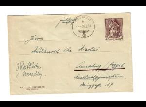 frühe Feldpost, 24.09.39 mit FPNr. 28624 auf poln. Beute-Ganzsache