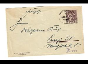 frühe Feldpost, 26.09.39 mit FPNr. 16337 auf poln. Beute-Ganzsache nach Leipzig