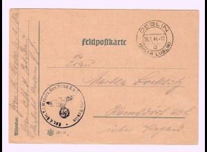 GG 1944 Feldpostkarte Deblin/Lublin, Absender Petrikau