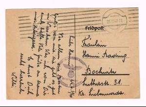 GG 1940, Feldpost Flieger Ausbildungs Regiment nach Bochwitz
