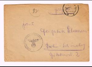 GG 1942, Feldpost Flieger Ausbildungs Regiment Deblin nach Berlin