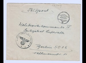 GG 1942, Feldpost Luftkriegsschule IKON, Tschenstochau nach Berlin