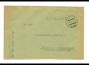 GG 1941 Feldpost Luftnachrichten Kompanie Warschau nach Berlin