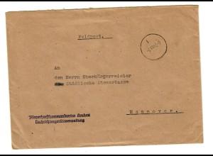 GG 1940 Feldpost Fliegerhorstkommandantur Krakau, Nachrichtengeräteverwaltung