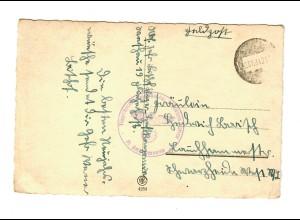 GG 1940 Feldpost Glückwunschkarte Fliegerhorstkommandantur Warschau Okecie