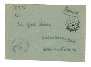 GG: Feldpost 1943 Reserve Lazarett Zakopane nach Aschersleben