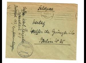 GG: Feldpost 1943 Lufttanklager Warschau nach Berlin