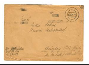 GG: Feldpost 31.10.39, FPNr. 27483, 6. Bat. Art. Reg. 56 nach Klingberg