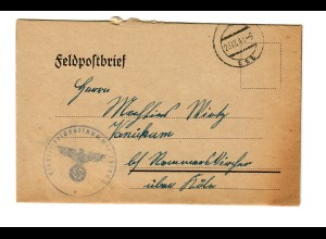 GG 1941 Feldpostbrief mit Textinhalt, FPNr. 29109D