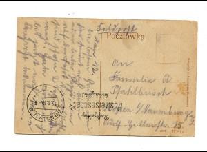 Feldpost 15.9.39 auf AK Tschenstochau, Stempel Breslau